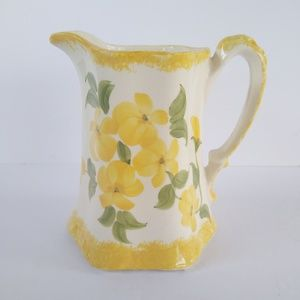 Yellow Floral Pitcher for buttermilk or cream